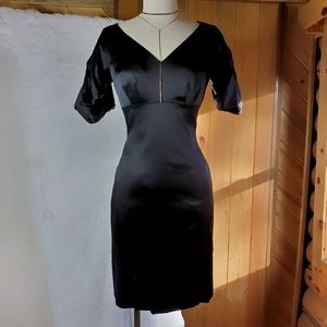 Antonio Melani | Black Satin Dress